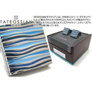 TATEOSSIAN タテオシアン チタニウムグラフィックオンダカフス(ブルー) (カフスボタン カフリンクス) ブランド|cufflink