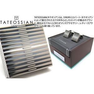 TATEOSSIAN タテオシアン チタニウムグラフィックエナメルカフス(ブラック・白蝶貝) (カフスボタン カフリンクス) ブランド|cufflink