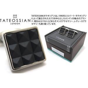 TATEOSSIAN タテオシアン チタニウムレザーカフス(ピラミッド) (カフスボタン カフリンクス) ブランド|cufflink