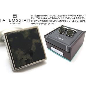 TATEOSSIAN タテオシアン チタニウムレザーカフス(カモフラージュ) (カフスボタン カフリンクス) ブランド|cufflink