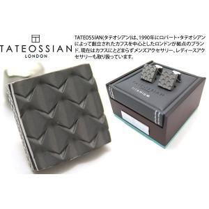 TATEOSSIAN タテオシアン チタニウムグリルカフス(オールメタル&オニキス) (カフスボタン カフリンクス) ブランド|cufflink
