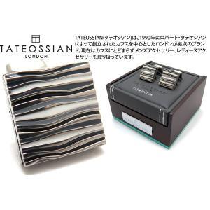 TATEOSSIAN タテオシアン チタニウムグラフィックカフス(ブラック&白蝶貝) (カフスボタン カフリンクス) ブランド|cufflink