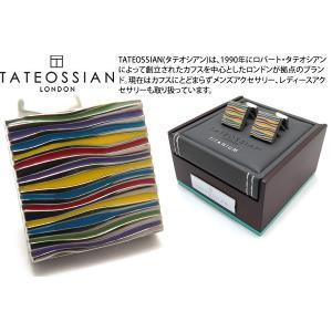 TATEOSSIAN タテオシアン チタニウムグラフィックカフス(マルチカラー&オニキス) (カフスボタン カフリンクス) ブランド|cufflink
