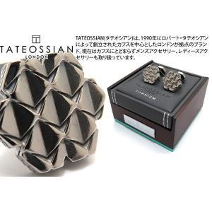 TATEOSSIAN タテオシアン チタニウムグリルオクタゴナルカフス(オニキス) (カフスボタン カフリンクス) ブランド|cufflink