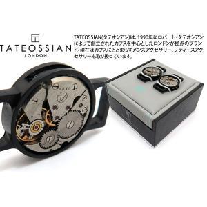TATEOSSIAN タテオシアン ウォッチムーブメントラウンドシューリンクス(ブラッシュドブラックIPスチール) (シューピアス) ブランド|cufflink
