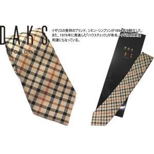 DAKS ダックス シルクハウスチェックタイ (ネクタイ)|cufflink