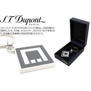 S.T.Dupont デュポン ロゴスクウェアキーホルダー|cufflink