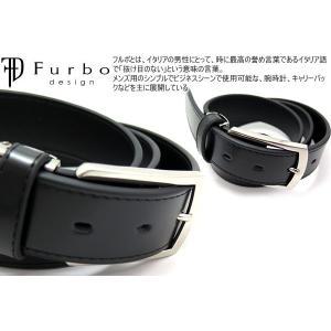 Furbo design フルボデザイン 35mmスムース レザー ベルト /メール便不可|cufflink