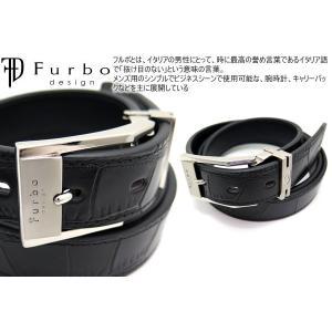 Furbo design フルボデザイン 30mm クロコダイル 型押 レザー ベルト /メール便不可|cufflink