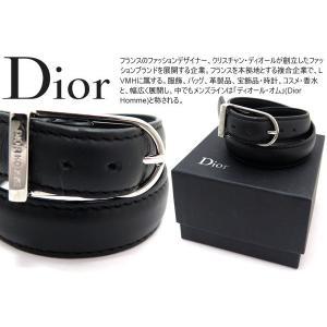 Dior homme ディオールオム ブラックレザーブレスレット 【アウトレット】|cufflink