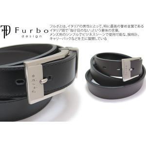 Furbo design フルボデザイン スクエアードバックル 28mmスムースレザーベルト リバーシブル cufflink