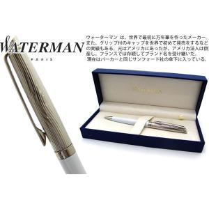 WATERMAN ウォーターマン メトロポリタンデラックス ホワイト CT ボールペン 【ブランド】|cufflink