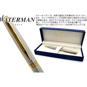 WATERMAN ウォーターマン メトロポリタンエッセンシャル ステンレススティール GT ボールペン 【ブランド】|cufflink