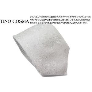 TINO COSMA ティノコズマ ペイズリー  シルク ネクタイ(ホワイトシルバー) (イタリア製)|cufflink