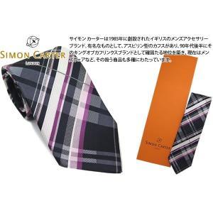 SIMON CARTER サイモンカーター マドラス チェック シルクネクタイ(ピンク)(ネクタイ)|cufflink