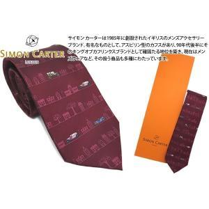 SIMON CARTER サイモン・カーター レトロカー シルクネクタイ(レッド)|cufflink