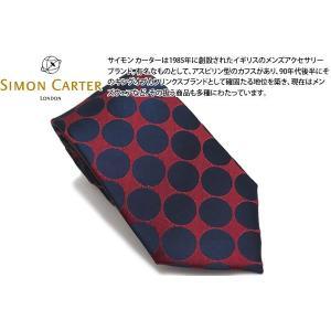 SIMON CARTER サイモンカーター ドッティ ネクタイ(レッド・ネイビー)(ネクタイ)|cufflink