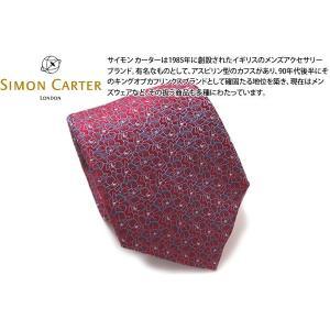 SIMON CARTER サイモン・カーター オーキッド シルク ネクタイ(レッド)|cufflink