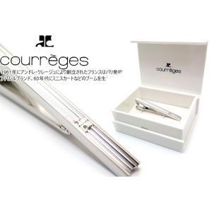 courreges クレージュ グルーブラインタイバー (ネクタイピン ネクタイクリップ)|cufflink