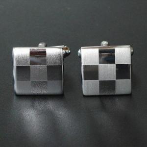 カフス カフスボタン シルバーツートン|cuffs-kobo