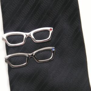 メール便送料無料 メガネ タイピン ストーンもキラリ眼鏡のネクタイピン|cuffsmania|02