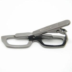 メール便送料無料 メガネ タイピン ストーンもキラリ眼鏡のネクタイピン|cuffsmania|03