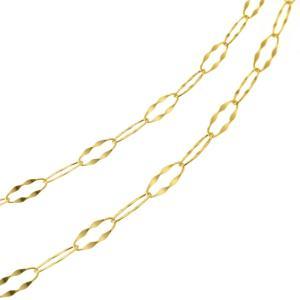 ロングネックレス K18 18金 18k ゴールド ネックレス チェーン 80cm ゴールド  ロン...