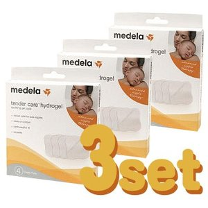 メデラ ハイドロジェルパッド 4枚入り(3個set)乳首ケア 乳頭パッド