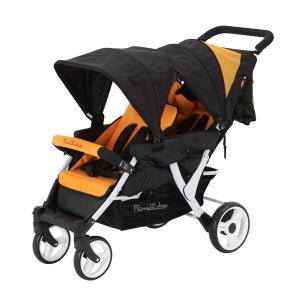 お散歩カー 2人乗り プリスクールワゴンE2(日本育児)大型ベビーカー 二人乗り 双子用 1ヵ月から|cunabebe