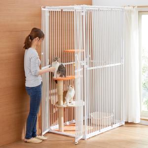 猫用ゲージ キャットタワー ねこっとハウス キャットハウス 猫用ゲート 猫用サークル「代金引換不可」|cunabebe