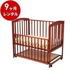 ベビーベッド レンタル9ヶ月:すやすやブラウン120(マット別)  ハイタイプ 日本製 早トクぷらす30対象商品 cunabebe