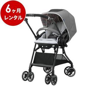 ベビーカー 新品レンタル6ヶ月:コンビ スゴカルα 4キャス エッグショック HT ヘリンボングレー baby|cunabebe