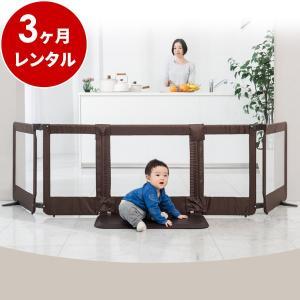 ベビーゲート 置くだけ ワイド 新品レンタル3ヶ月:日本育児 おくだけとおせんぼ スマートワイド