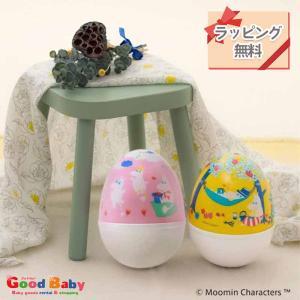 ムーミンベビー おきあがり ムックリ 日本製 おきあがりこぼし 赤ちゃん おもちゃ 音 ガラガラ 出産祝い cunabebe