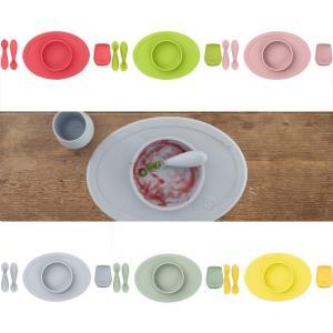 離乳食用食器 ezpz(イージーピージー)ファーストフードセット ベビー食器 プレート ボウル シリコンプレート ランチプレート シリコン マット 離乳食 出産祝い|cunabebe