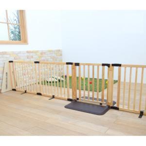 ベビーゲート 置くだけ ワイド 木製パーテーション FLEX 400 日本育児「代金引換不可」