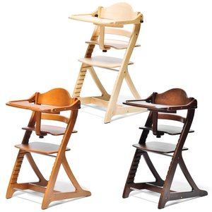 ベビーチェア ハイタイプ 長く使える 木製ハイチェア すくすくチェア スリムプラス テーブル付 cunabebe