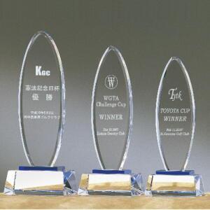 トロフィー 光学ガラス 名入れ記念品 表彰 CK−119 大 H24.5cm