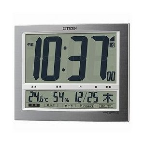 CITIZEN シチズン デジタル時計 電波時計 掛・置兼用 パルデジットワイド140 8RZ140-019|cuore