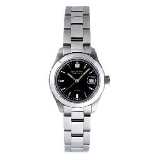 SWISS MILITARY スイスミリタリー ELEGANT エレガント ML101 レディース腕時計 黒文字盤 ペアウォッチ cuore