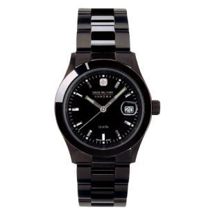 SWISS MILITARY スイスミリタリー ELEGANTBLACK エレガントブラック ML132 メンズ腕時計 ブラック文字盤 ペアウォッチ cuore