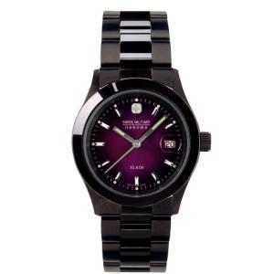 SWISS MILITARY スイスミリタリー ELEGANTBLACK エレガントブラック ML189 メンズ腕時計 バイオレット文字盤 ペアウォッチ cuore