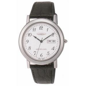 AUREOLE オレオール レザー SW-436M-3 クオーツ メンズ腕時計 ペアウォッチ|cuore