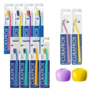 歯ブラシ 2人用セット ギフト用封筒 プレゼント 贈答 クラプロックス FOR SPECIAL9000円コース歯ブラシ 1年分ペアセット|curaprox