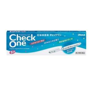 【第2類医薬品】チェックワン 妊娠検査薬 1回用[妊娠検査]|curecarat
