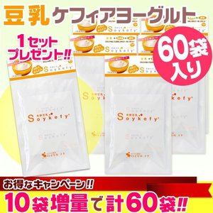 発酵豆乳 ソイケフィ (Soykefy)[10袋入] ◆5セット+1セットおまけ!! 計60袋【送料無料】 ケフィアヨーグルト 種菌 豆乳ヨーグルト たね菌|curemart