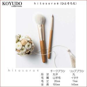 KOYUDO collection HITOSOROE(ひとそろえ) チークブラシとリップブラシのセット オリジナルラッピング付き curenet-shop