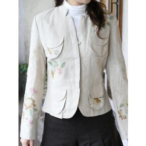 さらにお求めやすくなりました!★キュリ*コレオリジナル★刺繍が綺麗な長袖ジャケット(返品・交換・ギフト包装不可)|curicolle