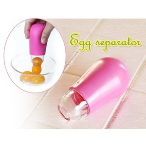エッグセパレーター レッド(卵の黄身のスポイト ヨークスポイト) (返品 交換 ギフト包装不可)|curicolle