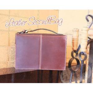 イタリー製オイルレザー・セカンドバッグ(メンズ・レザー・革製鞄)[Ain Soph/アインソフ/プレゼントにお勧め]【送料無料】|curicolle